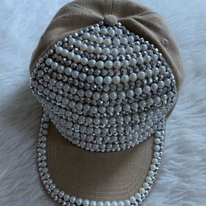 Bling Pearl Hat